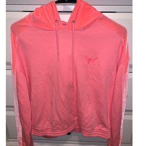 PINK woman's M hot pink/neon velvet hoodie